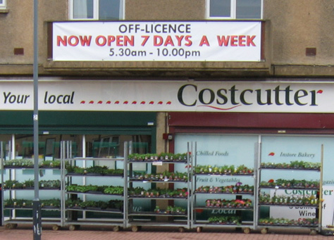 Costcutter sign
