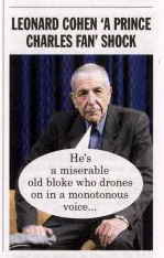 Leonard Cohen in Private Eye